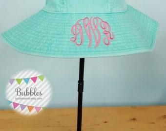 Monogrammed Adams Beach Hat