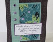 I Will Sing Praises Christian All Occasion Card With Scripture And Flowers