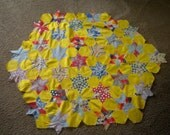 Vintage Material Pieced Star Fabric