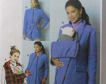Butterick 6301, Misses' Maternity Vest, Coat and Belt Sewing Pattern, Maternity Patterns, Sizes 16, 18, 20, 22, 24, New and Uncut