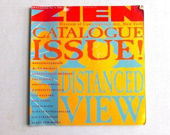 ZIEN Magazine - A Distanced View 1986 - Number 9 - Rare Art Magazine - Gerald van der Kaap - New Museum of Contemporary Art NYC