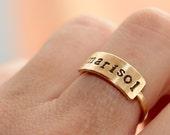 Name Ring * Personalized Ring * Custom Ring * Name Plate Ring * Personalized Jewelry * Date Ring *  Stackable Name Rings * Custom Name Ring