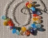 Rainbow Millefiori Teardrop Necklace