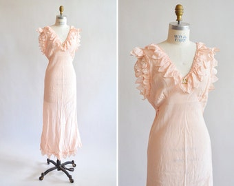 Vintage 1940s SILK slip dress