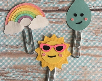 Rainbow Planner paperclip. Pick one