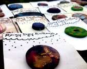 Large Lot DISCOUNTED Handmade Buttons  Rainy Day Buttons De-Stash - Chromatics