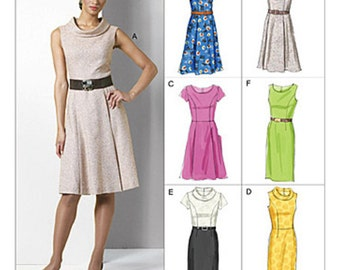 Sz 8/10/12/14 - Vogue Dress Pattern V8667 - Misses' Princess Seam Dress in Six Variations - Vogue Options Pattern