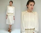 Sheer Dress  //  Pleated Chiffon Dress  //  THE MAMOSA