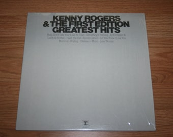 Vintage 1980s Vinyl LP Record Album Kenny Rogers And The First Edition Greatest Hits