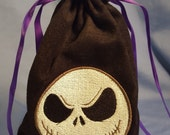 Jack Skellington Nightmare Before Christmas Embroidered Tarot Bag/Pouch