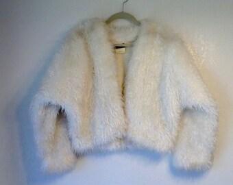 FAUX FUR cropped jacket large