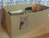 New Color / Purse Organizer insert SHAPER / 14.5 x 7 x 7H / TAN / Sturdy/With Stiff Wipe-Clean Bottom Option/fits Neverfull GM/Ready to Ship