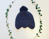 Juno Bonnet in soft superfine merino wool yarn, unisex, size newborn to 4T - made to order