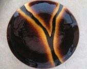 """Mid Century Bovano Cheshire Conn Enamel On Copper 8"""" Plate Bowl Dish"""