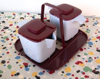 Vintage Creamer and Sugar Set