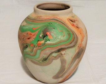 Nemadji Pottery Vase - Vintage Pottery - Indian Pottery Clay Vase