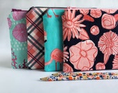 Zipper Pouch, Notions Case, Clutch, Cosmetics Case, Toiletries Pouch