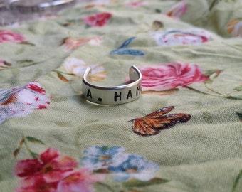 A. Ham Alexander Hamilton Handstamped Aluminium Ring