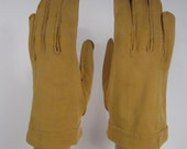 7-Vintage Ocre Yellow Dress/Church/prom Gloves - 7-1/4 inches long(907g)