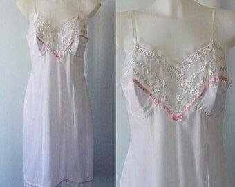 Vintage White Full Slip, St Michael, White Slip, 1960s White Slip, Vintage Slip, Vintage White Slip, 1960s Full Slip, Slip