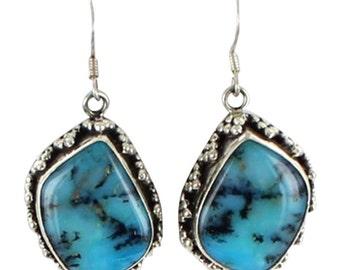Peruvian Opal Sterling Earrings #3