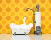 Bright bathroom wall decor art print: What's Good For The Goose