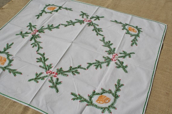 Vintage German Tablecloth with bells