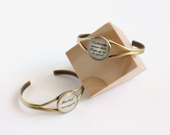 I solemnly swear that I am up to no good or mischief managed cuff bracelet