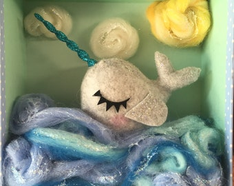 Narwhal Shadow Box