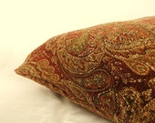 Dog Bed Cover   Crimson/Gold/ and Sage Tapestry 22 x 26