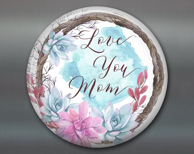 "3.5"" Mother's day card, mother's day bouquet, flower fridge magnet, flower decor, kitchen decor MA-1407"