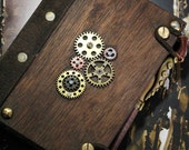 Steampunk wedding guest book with octapus pen