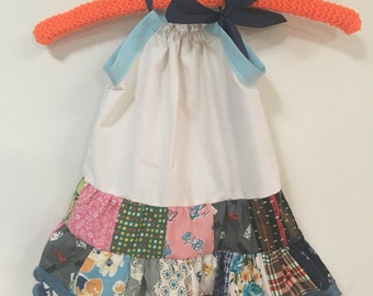 Sweet Baby Girl Vintage Feedsack Quilted Handmade Dress