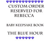 Baby Journal Keepsake Book The Blue Hour - Reserved