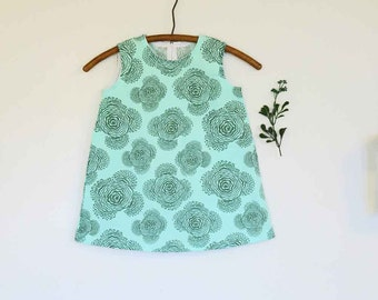 girls summer dress size 4 Amy Butler fabric sleeveless dress heirloom classic style