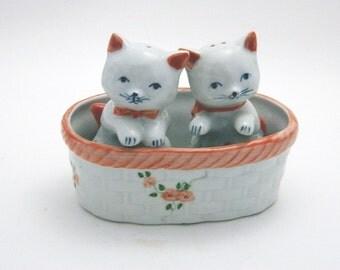 Andrea by Sadek - Kittens In A Basket Salt & Pepper Shakers