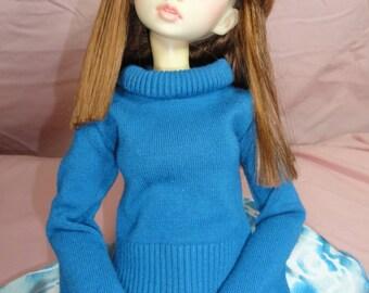 SD DOLLFIE BJD Sweater Steel Blue