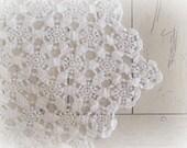 Farmhouse Table Runner Vintage Crochet Table Runner Dresser Scarf  Rustic Table Runner Shabby Cottage Boho Wedding