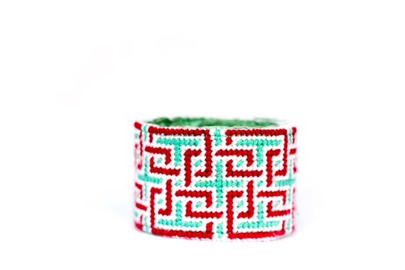 DIY Needlepoint Cuff Kit in Knotwork
