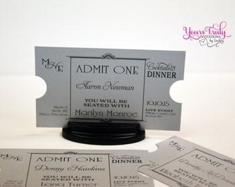 Art Deco Movie Star Theatre Place Cards