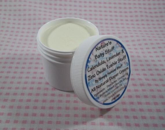 Calendula Lavender & Zinc Oxide Tushie Stuff, 2oz Container of Natural Diaper Cream, Diaper Cream, Diaper Rash Cream, Baby Lotion, Baby Gift