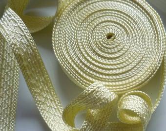 Art silk Moroccan trim, lemon, textured trim, spring colour, pastel, 5metres