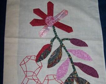 Large Flower Applique Quilt Block