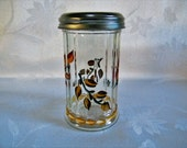 Cheese shaker, painted cheese shaker, jars and containers, kitchen container