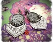 GYPSY SOUL Earrings Free spirit Boho Cowgirl EARRINGS Festival earrings Indie earrings Hippie Bohemian earrings Sterling silver GPyoga