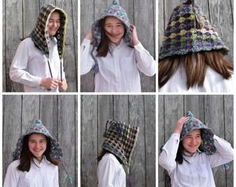 Woodland Bonnet Crochet Pattern, Instant Download
