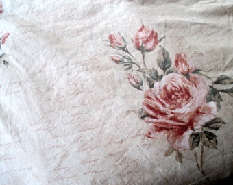 Vintage King Size Duvet Cover by Fieldcrest Charisma Floral Roses, Shabby Chic