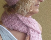 Bohemian Accessories Pink Winter Hat and Scarf Set