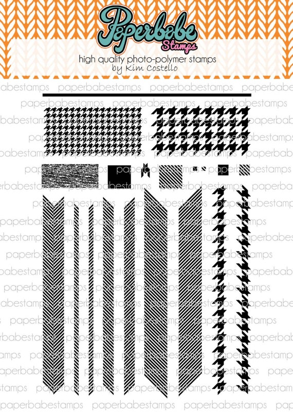 DesignA Tweed Stamp Set - Paperbabe Stamps - Clear Photopolymer Stamps - For paper crafting and scrapbooking.