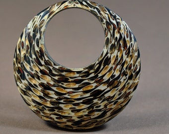 Coco black striped, not drilled, 72mm, #878